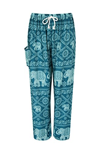 ThaiUK -  Pantaloni  - Donna Elephant 3 Turquoise