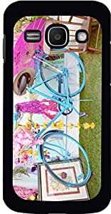 Dot Print Back Cover For Samsung Galaxy Ace 3 Pink Lovely Bicycle Umbrella Printed Case
