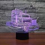 DHYWGS Buntes änderndes 3D Noten-Nachtlicht des LKW-LED kreatives Sichttischlampen-Schlafzimmer-Geschäfts-Dekor-Geschenk beleuchtet Weihnachtsbeleuchtung