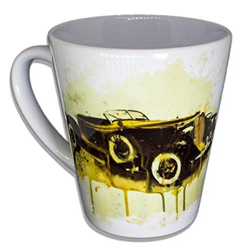 Auburn Speedster Oldtimer - Unikat Handarbeit Designer Tasse aus brillanten Porzellan - Tasse, Becher, Kaffeetasse, Teetasse Keramik Tasse, 330ml, Geschenk für Freunde -