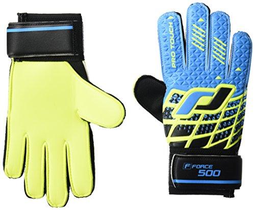 Pro Touch Kinder Force 500 PG Jr. Torwart-Handschuhe, Blau/Schwarz/Gelb, 4