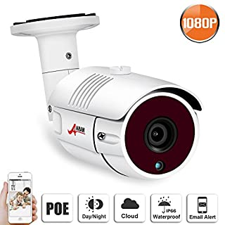 ANRAN 1080P POE Camera 2MP High Resolution Day and Night Indoor Outdoor Waterproof Bullet Security Camera System SWINWAY