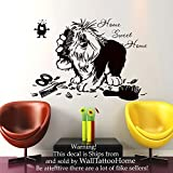 Wall Decals Home Sweet Home Quote Decal Vinyl Sticker Dog Flea Scissors Comb Petshop Grooming Salon Home Decor Art Mural (US13) (48cmTall x 68cmWide) by IncredibleWallDecals