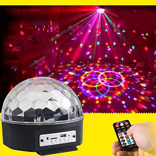 WTD-9 Farbe Bluetooth Kristall Magic Ball Light KTV Haushaltsfernbedienung Bunte rotierende Lichter (17x17 cm) Bühnenlampen