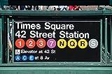 Pixblick - Times-Square Schild in New York - Hochwertiges Wandbild - Hartschaumplatte 150 x 100 cm