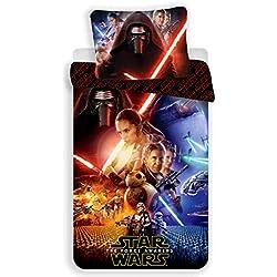 Star Wars–Juego de Cama–Funda de edredón Reversible Cama Individual