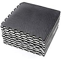 Basics Hardware Tappetino Puzzle en Blanco y Negro con Tessere a Incastro in Schiuma Eva,