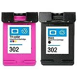 Compatible HP 302 XL 302xl cartouche d'encre grande capacité Noir couleur Compatible...
