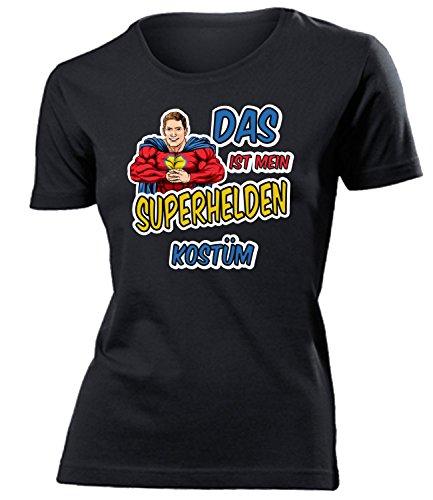 Kleidung 4481 Damen T-Shirt Frauen Karneval Fasching Faschingskostüm Karnevalskostüm Paarkostüm Gruppenkostüm Schwarz M ()