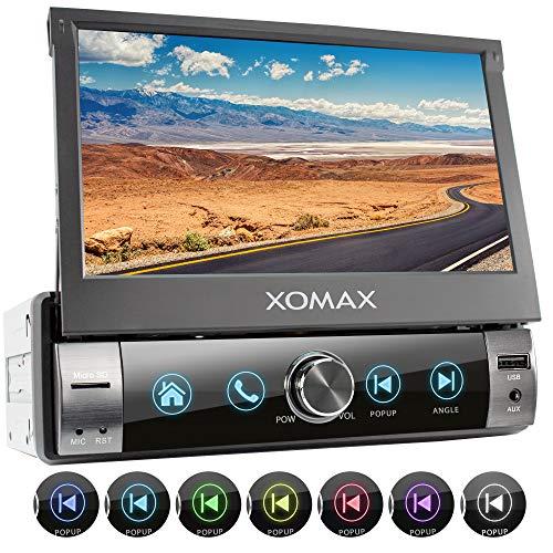 XOMAX XM-V762 Autoradio mit Mirrorlink, Bluetooth Freisprecheinrichtung, 7 Zoll / 18cm Touchscreen Bildschirm, RDS, USB, SD, AUX, 1 DIN