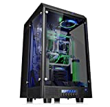 Thermaltake The Tower 900 Full-Tower - Case per PC (Full-Tower, PC, SGCC, vetro temperato, ATX, EATX, Micro-ATX, Mini-ITX, casa/ufficio, colore: Nero
