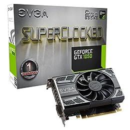 EVGA GeForce GTX 1050 SC GAMING, 2GB GDDR5, DX12 OSD Support (PXOC) Grafikkarte 02G-P4-6152-KR