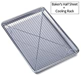 Chef's Star Set: Professionelles Backblech aus Aluminium mit Abkühlgitter – Halbe Größe: ca.45,1x 33cm