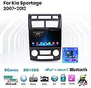 Android Auto Stereo Radio Sat NAV Doppel Din für Kia Sportage 2007-2012 GPS Navigation 9 Zoll Touchscreen Head