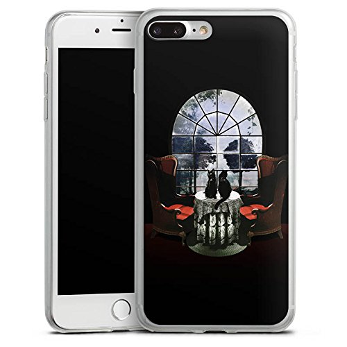 Apple iPhone 8 Slim Case Silikon Hülle Schutzhülle Raum Room Skull Totenkopf Silikon Slim Case transparent