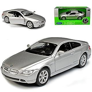 alles-meine.de GmbH BMW 6er E63 645CI Coupe Silber 2003-2010 ca 1/43 1/36-1/46 Welly Modell Auto