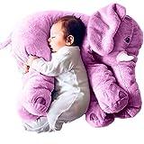 Minetom Bambini Neonati Cuscino Sacco a Pelo Cute Elefante Peluche Pillow Cuscini Comfort Morbido Giocattolo Regali per Bambini Viola BigSize(60cm)