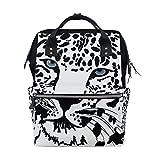 COOSUN Tiger Nappy Wickeltasche Windel Rucksack mit Insulated Taschen Stroller Straps, große Kapazitäts-Multi-Funktions-stilvolle Windel-Tasche für Mama Dad Außen Groß mehrfarbig