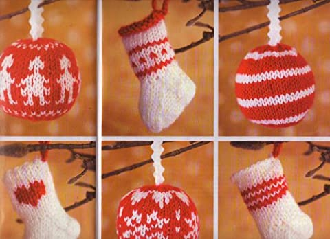 Quick & Easy Knits Christmas Tree Decorations Christmas Stockings and