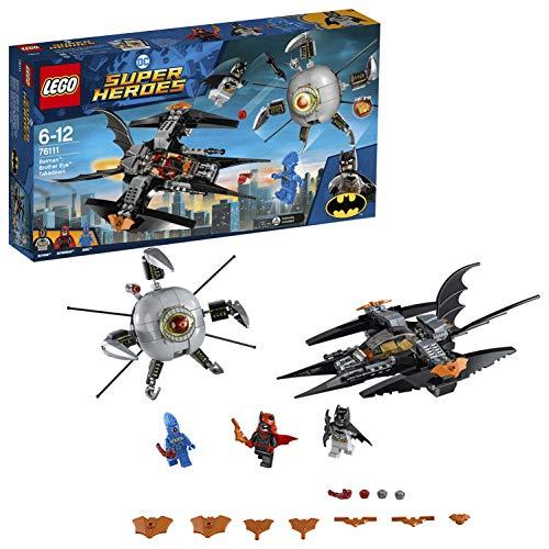 LEGO Super Heroes Batman: Asalto Final contra Brother Eye, avión del Caballero Oscuro, incluye Nave del Supervillano (76111)
