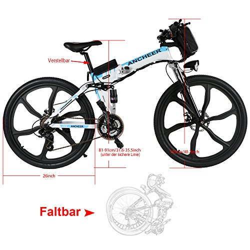 ANCHEER Faltbares E-Bike