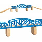 Toys For Play Wooden Railway Cross Hatch Bridge (9 Pieces)