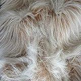 CRS Fur Fabrics Lungo Mucchio Divertimento Finta Pelliccia Tessuto Materiale-Cammello Frost