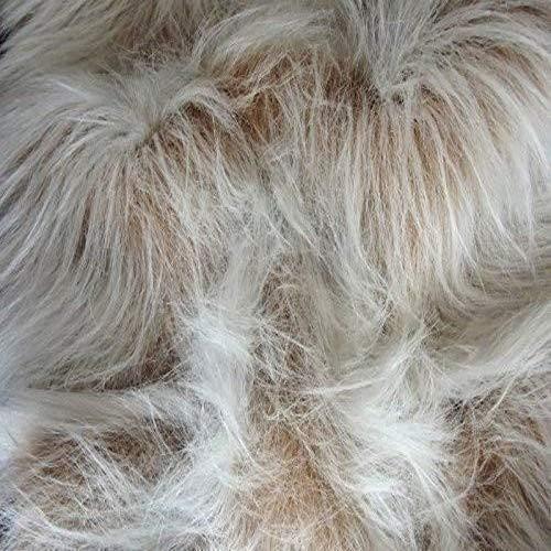 CRS Fur Fabrics Lange Flor Fun Kunstfell Stoff Material-Camel Frost