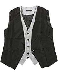 TRIXES 2 Piece design Mens Fashion Vest Gilet - Taille EU XS/(Tag M)