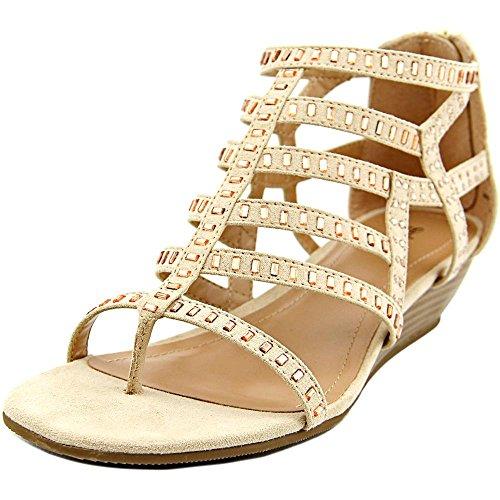 Style & Co Bradey Femmes Simili daim Sandales Compensés Sandy Beige