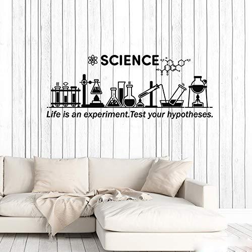 Vinyl Wandtattoo Wissenschaft Inspirieren Chemielabor Schule Klassenzimmer Dekor Aufkleber Removable Kunstwand Für Wohnzimmer 57 * 147 cm