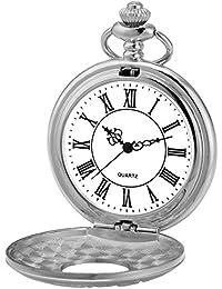 AMPM24 WPK218 Reloj de Bolsillo Caballero Cuarzo de Plateado