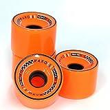 : MAXOfit® Rollen für Longboard All Day Orange 70mm x 55mm