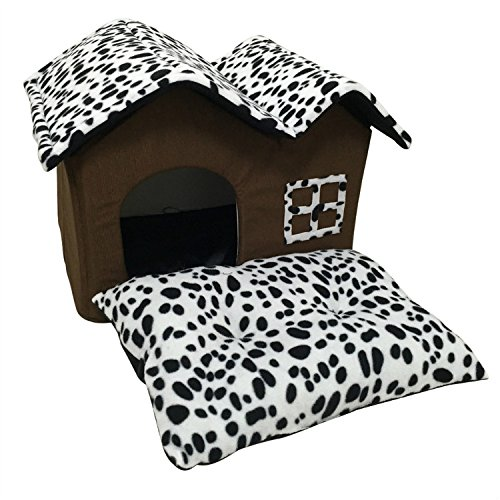 Alta calidad Doble Pet perro lunares casa habitación