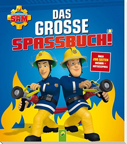 feuerwehrmann sam malbuch Feuerwehrmann Sam Das grosse Spassbuch: Über 200 Seiten Ausmal- + Rätselspaß