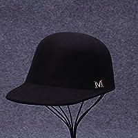 Vaevansp Hembra Otoño Y Invierno Marea Lengua Sombrero De Béisbol Invierno M Estándar Negro Moda Casco Ecuestre, G