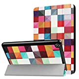 Kindle Fall, happytop 3Arm Backcover für 2017New Fire 7, TPU 17,8cm Painted Displayschutzfolie S plaid