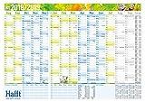 H�fft Wandkalender Schuljahr 2018/2019 89x63cm (gr��er als A1), gefalzt, Schuljahreskalender 14 Monate Aug 2018 - Sep 2019, 2 Stundenpl�ne, Ferientermine, mit Extra A4-�bersicht Bild