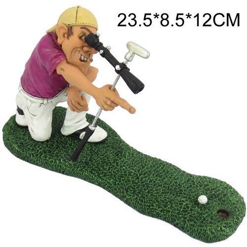 Figurines de Golf Golfeur pour homme Coffret cadeau Statue Figurine Décoration Fantaisie Golf New, SHARP SHOOTER