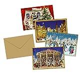 Coppenrath 'Karten Viktorianischer Auswahl an Little Adventskalender' 4Stück verschiedene Designs
