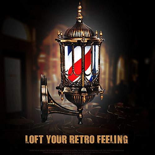 LED Poste de Barbero Firmar Pared Montado Lámpara 50CM Blanco Luminoso Giratorio Esclarecedor Luminosa para Peluquería Rayas Impermeable Ligero Cabello Salón Tienda,Impermeable al Aire Libre,A