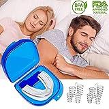 Dispositifs anti ronflement efficace - 4 dilatateur Nasal anti-ronflement-1 Gouttières Dentaires-Anti Ronflement Nez Vents pour Aide Sommeil Respirationt, Arrêter le Ronflement,Snore Stopper
