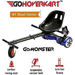 GoHoverkart The Official Monster Suspension & - Muelles Hoverkart, color negro carbón, negro