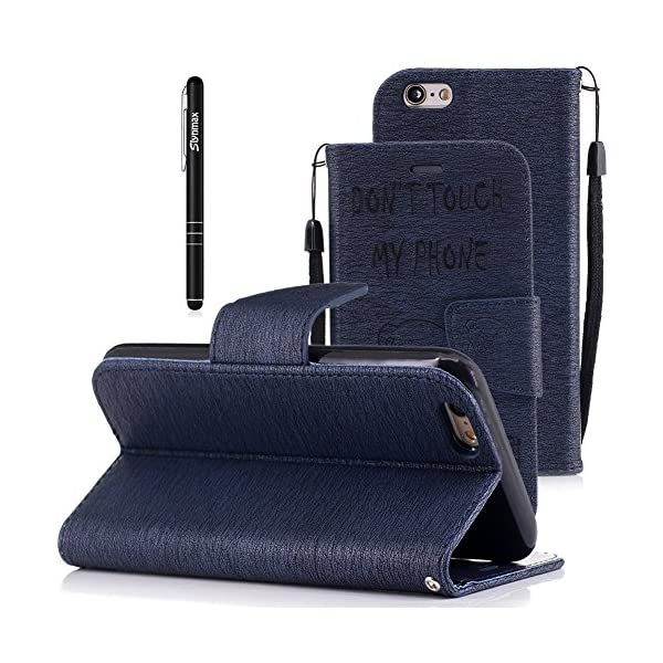 coque iphone 6 rabat bleu