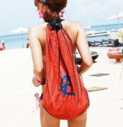 Liebespaar Rucksack Schwimmrucksack Strandrucksack Schwimmtasche Reisetasche Wasserdichte Tasche für Damen und Herrn Orange