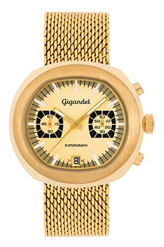Gigandet Supergraph Montre Homme Quartz Chronographe Analogique Date Or G11-004