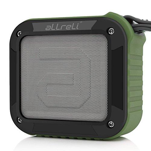 [El mejor altavoz bluetooth de regadera de todos] Altavoz Bluetooth Portable aLLreLi Rockman-S con hasta 10 horas de duración - ejercito verde