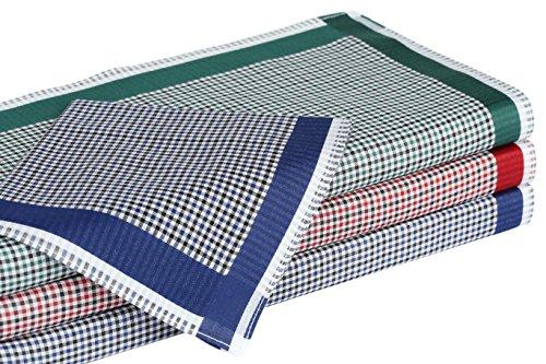 Betz 12 Stück Damen Stoff Taschentücher Set Chanelle 1 Größe 30x30 cm 100% Baumwolle Farbe Dessin 129