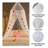 Baby Moskitonetz (Weiß) Dyna-Living Bettüberdachung fit für Babybett, Kinderbett, Twin-Size-Bett