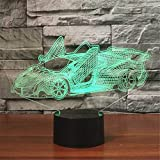 Best Easy Smart Touch Gift For A Boyfriends - LNLZ Lamborghini sports car 3D lights colorful visual Review